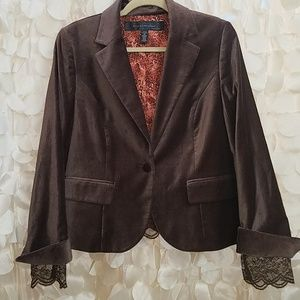 Women's brown blazer